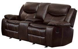 Barstrop Collection by Homelegance Reclining Loveseat 8230BRW-2