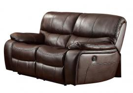 Pecos Collection by Homelegance Power Reclining Loveseat 8480BRW-2PW