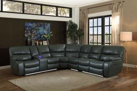 Pecos Gray Leather Power Sectional 8480GRY by Homelegance