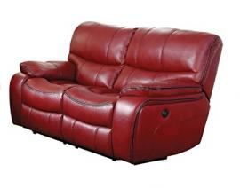 Pecos Collection by Homelegance Power Reclining Loveseat 8480RED-2PW
