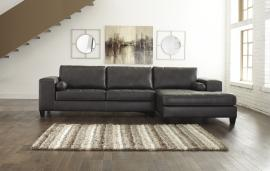 Nokomis Charcoal 87701-17 by Ashley Sectional Sofa