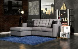 Ravel 8851 Gray Sectional Sofa