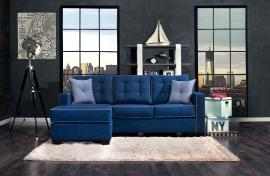 Ravel 8852 Blue Sectional Sofa