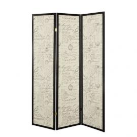 Three Panel Screen with French Script By Coaster 900074