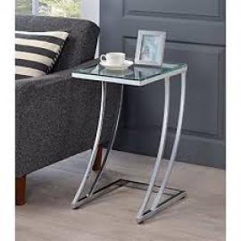 Glass/Chrome Finish Snack Table 900082 by Coaster