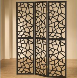 Three Panel Black Contemporary Screen By Coaster 900092