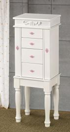 Classic White & Pink Collection 900146 Jewelry Armoire