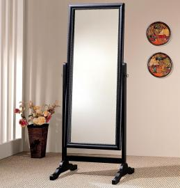 Black Finish Cheval Mirror 900168 Collection