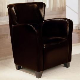 Brown Vinyl Collection 900234 Accent Chair