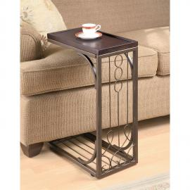 Snack Table 900280 Burnished Cooper Base Brown