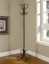 Black Finish Collection 900863 Coat Rack Coaster Furniture