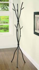 Brown Metal Wood Looking Finish Collection 900864 Coat Rack Coaster Furniture