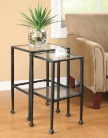 Black Nesting Table Set of 2 by Coaster 901073