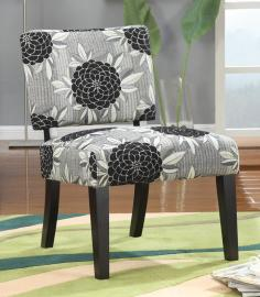 Heard Collection 902050 Big Flowers Accent Chair