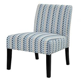 Accent Chair by Coaster 902059 Blue/Beige Woven Fabric