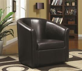 Accent Chair by Coaster 902098 Dark Brown Leatherette