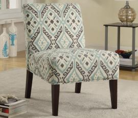 Accent Chair by Coaster 902191 Beige Printed Fabric