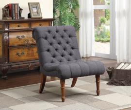 Heather Collection 902217 Grey Accent Chair