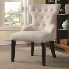 Accent Chair by Coaster 902238 Cream Linen-Like Fabric