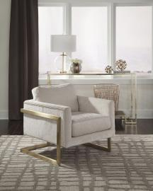 Donny Osmond Home 902785 Ivory Accent Chair