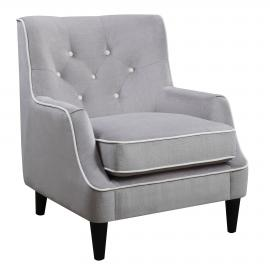 Donny Osmond Home 902894 Gray and White Accent Chair