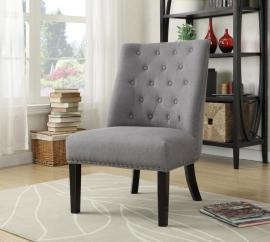 Accent Chair by Coaster 902923 Grey Linen-Like Fabric