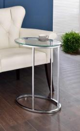 Glass/Chrome Finish 902927 Snack Table
