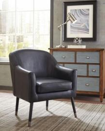 Scott Living 903377 Black Vegan Leather Accent Chair