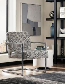 Scott Living 903402 Grey/Blue Patterned Accent Chair