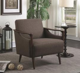 Scott Living 904045 Brown Fabric Accent Chair