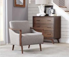 Scott Living 904046 Grey Fabric Accent Chair