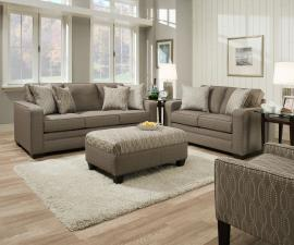 Simmons 9065 sequin grey track arm sofa set