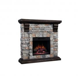 ClassicFlame Pioneer Stone Brushed Dark Pine Finish by Twin Star 90679F TV Console