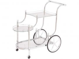 Chrome Tempered Glass Serving Cart by Coaster 910076