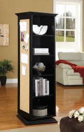 Hemington Collection 910083 Black Swivel Curio Cabinet