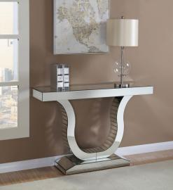 Leslie Collection 930010 Mirrored U-Shape Console Table