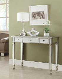 Sapphire Collection 950014 Silver Console Table
