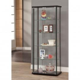 Canton 950170 Black Contemporary Curio Cabinet