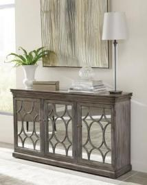 Scott Living 950777 Antique Grey Accent Cabinet