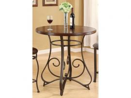 Tavio by Acme 96064 Walnut & Dark Bronze Finish Bar Table