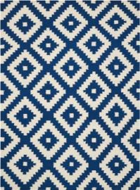Scott Living 970211L 7' x 10' Blue Patterned Rug