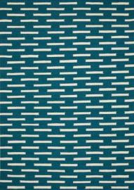 Scott Living 970212 5' x 7' Teal Patterned Rug