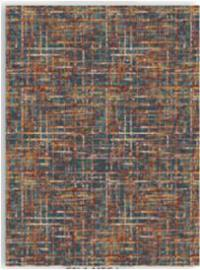 Scott Living 970216 5' x 7' Multi-Tonal Blue and Orange Rug