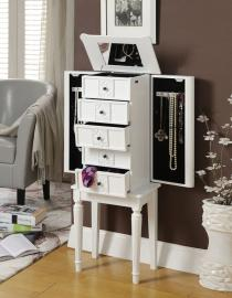 Acme Furniture 97167 Tammy White Jewelry Armoire