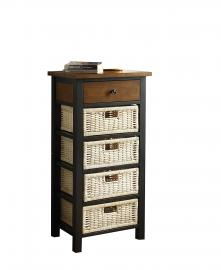 Acme Furniture 97179 Fidella Black Oak Storage Rack