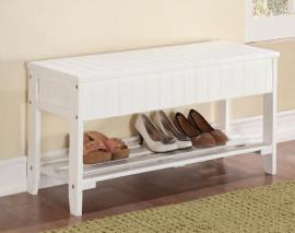 Acme Furniture 98166 XIO White Bench with Storage