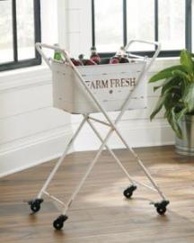 A4000086 Halenfield Beverage Tub in Antique White & Gray Finishes