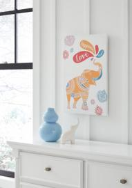 A8000269 Domani Ashley Elephant Multicolor Wall Art Gallery Wrapped Canvas