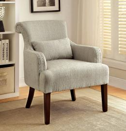 Agalva AC6113BG Flared Scroll Back Accent Chair