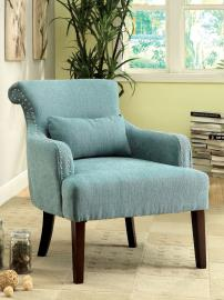 Agalva AC6113BL Flared Scroll Back Accent Chair